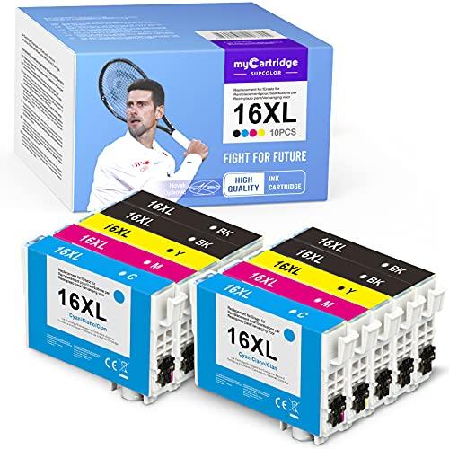 myCartridge SUPCOLOR 16XL - Cartuchos de tinta compatibles con Epson 16XL 16 para Epson Workforce WF-2750 WF-2760 WF-2660 WF-2650 WF-2630 WF-2540 WF-2530