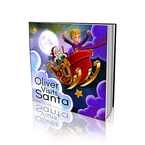 Personalized Story Book by Dinkleboo - Visiting Santa - For Kids Aged 2 to 8 Years Old - A Story About Santa Adventures - Soft Cover (8x 8)
