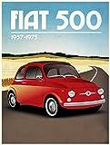 FIAT 500Classic car retro stile vintage in metallo frigorifero, 100mm x 75mm, novità regalo