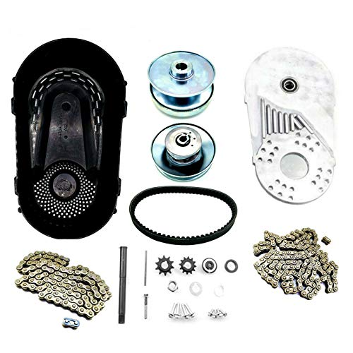 """3/4"""" Torque Converter Clutch Pulley with #35 and #420 Chains & Sprockets For Comet TAV2 and Predator 212cc 6.5Hp Go Kart"""