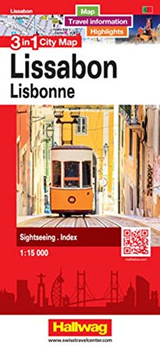 Lissabon 3 in 1 City Map: Map, Travel information, Highlights, Sightseeing, Index