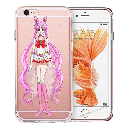 Handyhülle Sailor Moon ANIMEE Manga kompatibel für Huawei Honor 7C / Y7 Prime 18 M13 Schutz Hülle Case Bumper transparent rund um Schutz Cartoon M13