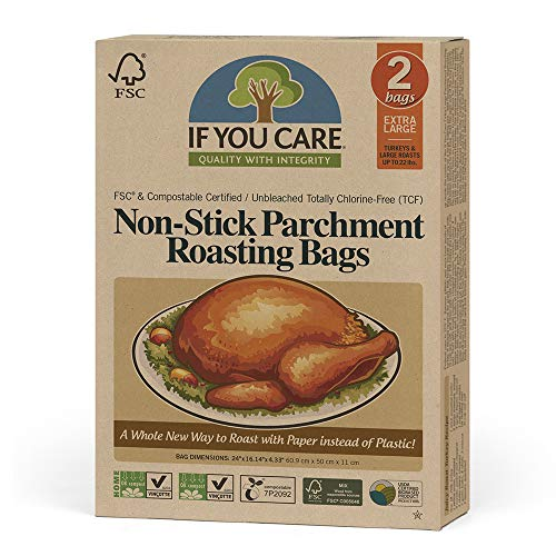 IF YOU CARE Non-Stick Parchment Roasting Bags, Natural , Extra Large -