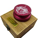 Riverstone Audio - Rock & Roll Series 380 Record Weight Turntable Stabilizer (380 g) - Anodized Aluminum - Laser Engraved Surface - R&R Guitar - Color: (Viper Red)
