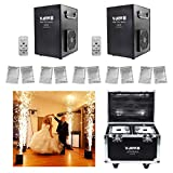 V-Show 750 W Wedding Special Effect Machine for Stage Party Concert Show Machine Controlled by DMX-512 or Remote, Use in Big Show,Banquet(2 Pcs + 10 Bags Ti Powder +Flightcase)