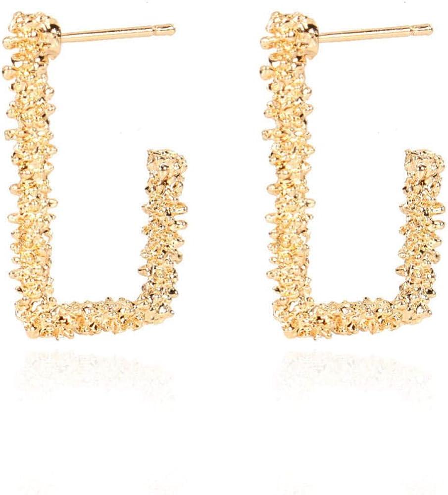 Cuff Earringsalloy Irregular Geometric Earrings Gold Earrings Ear