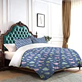 BriaPa Rowing Boats Canoeing Colorful Best Gift Luxury Soft Premium Bed Sheets Set, Hypoallergenic, Wrinkle & Fade Resistant Queen Bedding Set 3 Pieces 86'' x70-8