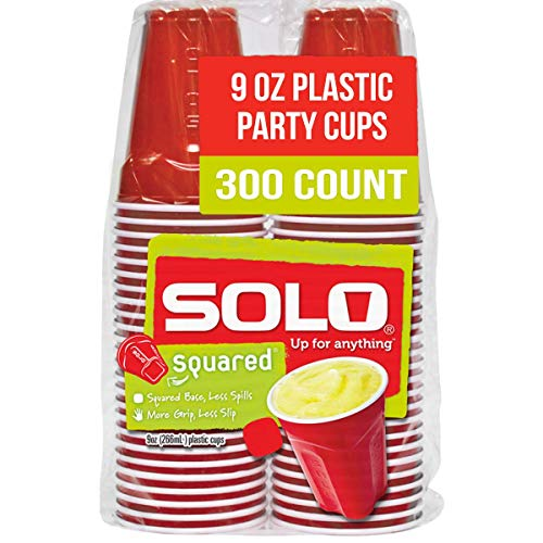 SOLO Cup Company Small Red Plastic Party Cups, 9 Ounce, 300 Count (ASQ950-20004)