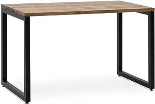 Table d'étude iCub Strong 140 x 60 x 75 cm noire en bois de pin massif épaisseur 30 mm finition vintage style industriel B...
