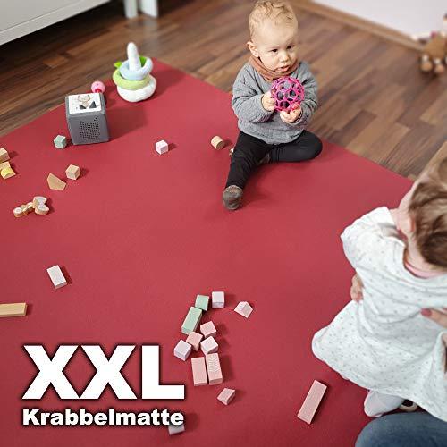 Wunschkind XXL Krabbelmatte | Krabbelunterlage | Made in Germany | Anti-Rutsch | Öko-Tex 100 240x280 Lila