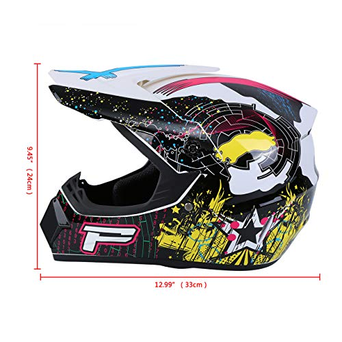 Product Image 4: Samger DOT Adult Offroad Helmet Motocross Helmet Dirt Bike ATV Motorcycle Helmet Gloves Goggles