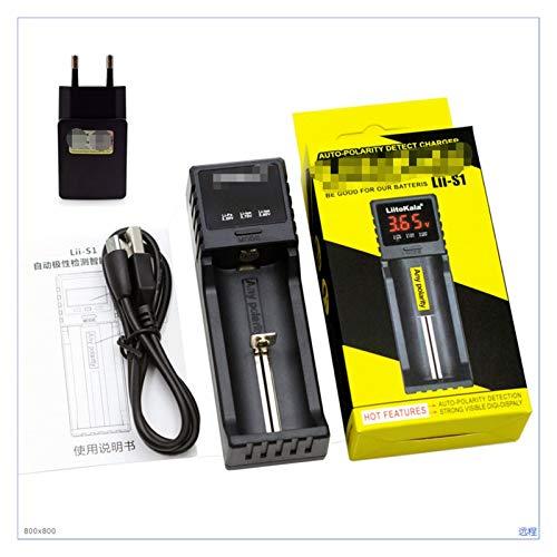 ZRNG LII402 LII202 LII100 LIIS1 18650 Cargador 1.2V 3.7V 3.2V AA/AAA 26650 NIMH Li-Ion Battery Cargador Inteligente 5V 2A Enchufe de la UE (Color : LII S1 Whole Package)