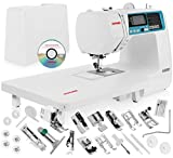 Janome 4120QDC Computerized Sewing Machine w/Hard Case + Extension Table + Instructional DVD + 1/4'...