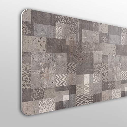 MEGADECOR Cabecero Cama PVC 10mm Decorativo Económico. Diseño Vintage En La Textura De Piedra, Fondo Abstracto Grunge (135cm x 60cm)