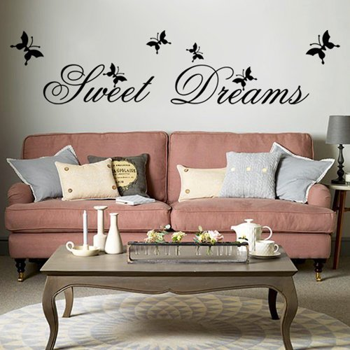 Sweet Dreams Diy Extraíble Art Vinilo Cita Etiqueta De La Pared Calcomanía Mural Home Room D & Uml; & Brvbar; Cor