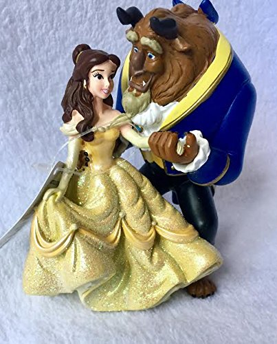 Disney Authentic store, Beauty and the beast's Beast and Belle figurine - Dancing style decoration collectible figures