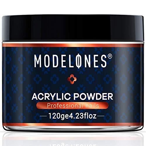 Modelones 4.23oz Clear Nail Acrylic Powder Professional Nail Art Powder for Nail Extension French Nails