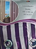 ForenTex - Cortina Opaca (M-0557), Morado, 145 x 260 cm, Curtain Aislante de Calor y Frio, reducción Ruido, Anti Polvo, Acabados ollaos Acero