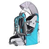 Baby Toddler Hiking Backpack Carrier Camping Child Carriers with Rain Cover Stand Child Kid Sun shade Visor Shield,Holds up to 50 Pound Ideal for Children Between 6 months-4 years Old (green-blue)