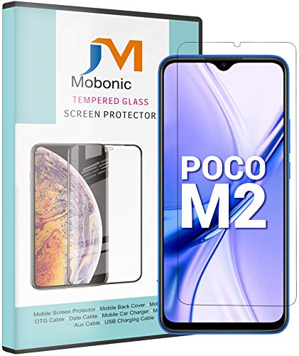 Mobonic® Screen Protector Compatible with Poco M2 6.67 Inch Screen Size Tempered Gorilla Glass Guard Screen Protector (Pack of 1)