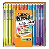 BIC Mechanical Pencil Xtra Smooth Bright Edition, Black, 0.7mm, 40-Count, MPCE40-BLK