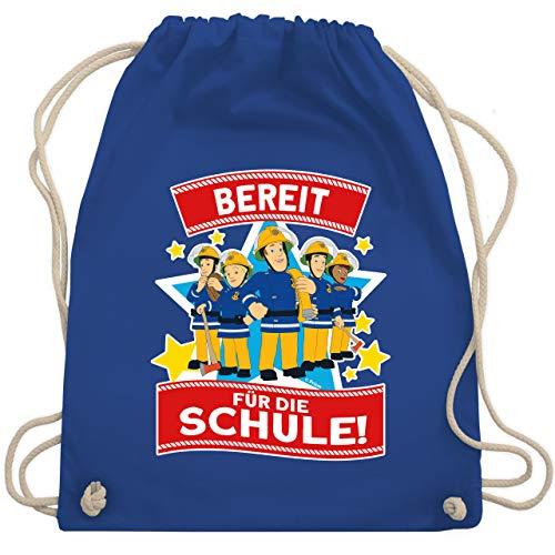 Shirtracer Feuerwehrmann Sam Tasche - Bereit für die Schule! - Sam & Team - Unisize - Royalblau - Feuerwehr - WM110 - Turnbeutel und Stoffbeutel aus Baumwolle
