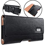 BOMEA iPhone 11 Pro Max/XS Max Holster, iPhone 8 Plus 7 Plus 6s Plus Belt Case, Premium Cell Phone Belt Holster Case with Belt Clip Pouch Holder for Large Plus iPhone with Otterbox/Other Case on