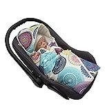 MoMika Premium Velvet Mandala Unisex Einschlagdecke | Wickeldecke | Babyschlafsack | Babydecke für Buggy oder Autositz | Wickeldecke mit Kapuze (Mandala)
