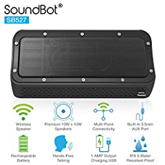 EXHILARATING SOUNDS- High performance enhanced bass membranes & passive sub woofer with 20W HD loud speakers & large cavity 53mm premium drivers to reproduce full spectrum music potent bass, dynamic mid-range, and crispy high notes for enhanced HD mu...