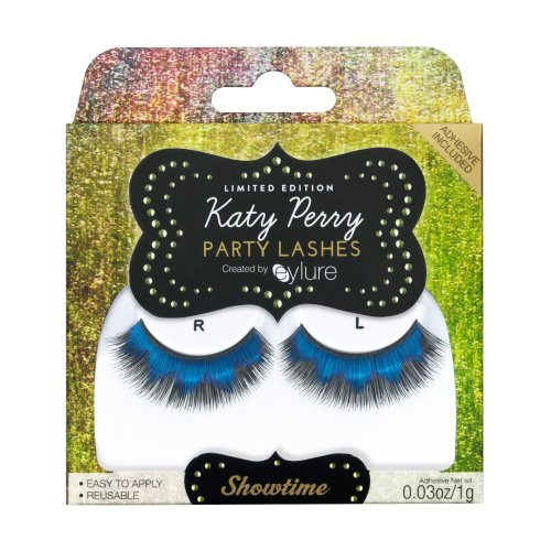 KATY PERRY Limited Edition PARTY LASHES Fake Eyelashes in Showtime (Black with Blue) by Party Lashes