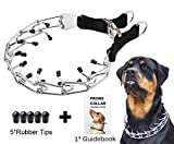 Dog Prong Training Collar, Stainless Steel Choke Pinch Dog Collar with Comfort Tips