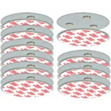 com-four Set de 10 Soportes magnéticos para detectores de Seguridad - Soporte con Almohadillas Adhesivas para detectores de Humo - Ø 7 cm (10 Piezas - Soporte magnético)