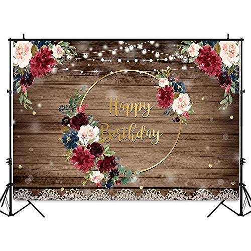 Fondo de Feliz cumpleaños con Purpurina para Mujer, Globos Rosados Brillantes, Anillo de Plata, Dulce niña, decoración de Fondo para Fiesta de cumpleaños, A1 10x7ft / 3x2,2 m