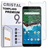 REY Protector de Pantalla para BQ AQUARIS X2 / X2 Pro, Cristal Vidrio Templado Premium