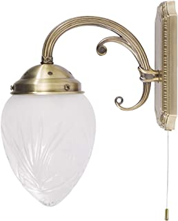 Applique Lampe Luminaire Murale Intérieur Style Art Nouveau Bronze 8631n