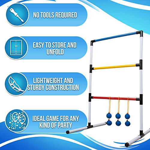 Ideas In Life One Piece Ladder Ball Game Set - Indoor and Outdoor...