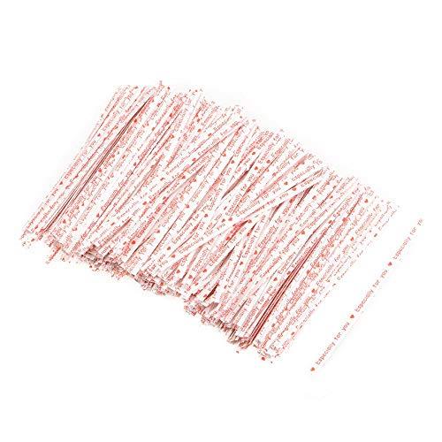 Empty Leere 1000 Stück Lange Starke Papier Twist Krawatten 4 Zoll Qualität zum Binden von Geschenktüten Art Craft Krawatten Schnüre Weiß