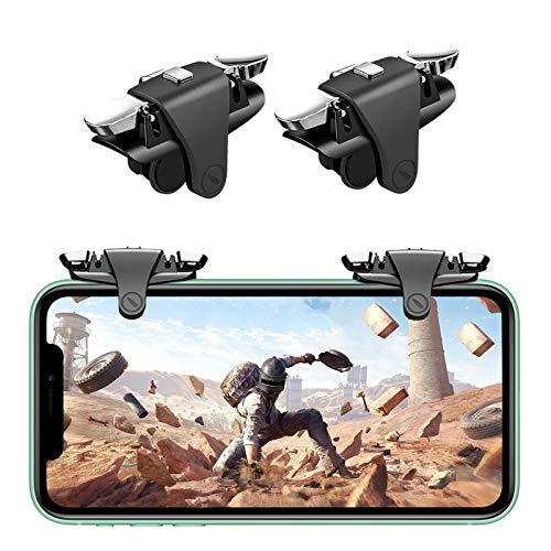 Newseego PUBG Mobile Phone Game Trigger,Botón Ajustable Estirable Teclas de Disparo y Puntería con Mando de Alta Sensibilidad Disparador Móvil para Reglas de Supervivencia para iPhone/Android-Negro