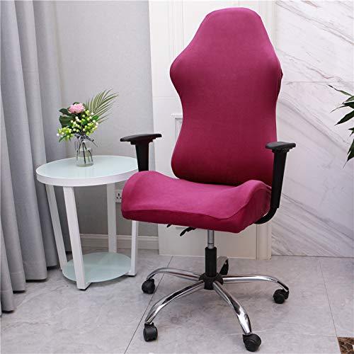 WENBING - Coprisedia da ufficio, in elastan, elasticizzato, per sedie da corsa, universale, colore: Rosa