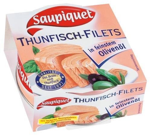 Saupiquet Thunfischfilets in Olivenöl, 8er Pack (8 x 185 g Dose)
