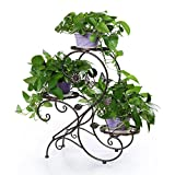 HLC 3-Tier Classic Plant Stand with Modern'S' Design (Bronze)