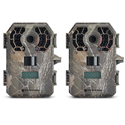 Stealth Cam 10 MP HD Video Infrared No Glow Hunting Game Trail Camera (2 Pack)
