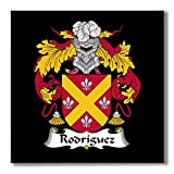 Carpe Diem Designs Rodriguez Family Crest/Coat of Arms Ceramic Tile for Coaster, Hot Plate, Trivet or Decorative Accent