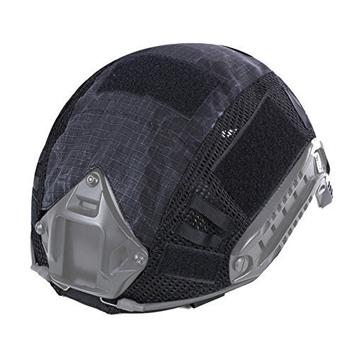 Leezo - Casco Táctico de Camuflaje de Nailon Airsoft Paintball CS Game...