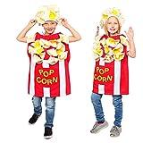 Dress-Up-America Popcorn Costume For Kids - Fun Kernel Costume for Boys and Girls (Medium 8-10/Large)