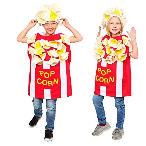 Dress Up America Popcorn Costume for Kids - Fun Kernel Costume for Boys and Girls (Medium 8-10/Large) White