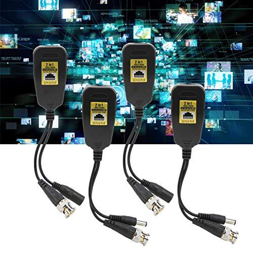 Transmission Balun 2-i-1HD—CVI/TVI/AHD/CVBS-sändare passiv video Balun 4 st 4K för åskskydd