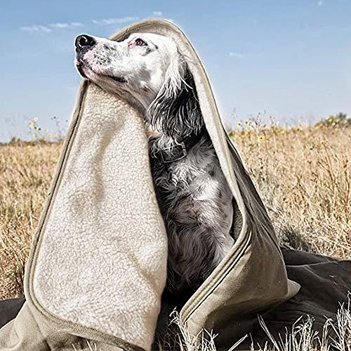 Manta de Mascotas, Reversible de Franela y Sherpa, Suave Manta para Camas de Perros Gatos y Otros Animales Pequeños, Medianos y Grandes-150x120cm