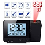 Digital Projection Alarm Clock - Auto Time Calibration High Definition with Weather Forecast