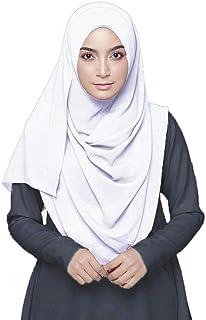Hijab For Women - Super Soft Plain Bubble Chiffon Scarf - Hijab shayla - Shawls Headband Muslim Hijabs - ideal gift for pa...